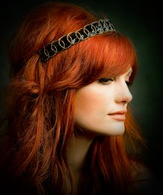 I want her hair color and headband! Ban.do Vanity Fair Black Label