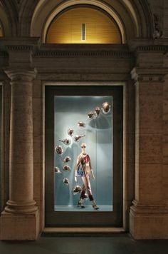 Fendi Balloons Windows in Rome, Palazzo Fendi