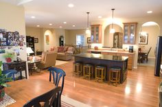 Morton Buildings custom home interior in Fargo, North Dakota.
