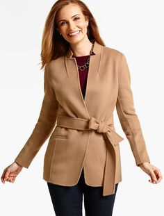 Belted Double-Face Jacket - Talbots