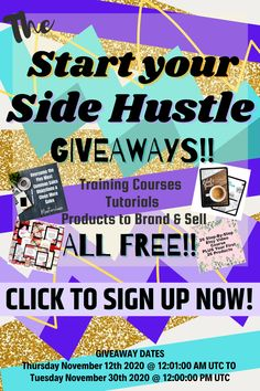 The time has come again, you can receive many resources for free and start your own side hustle! #sidehustle #passiveincome #makemoney Make Money Fast, Make Money Online, Closing Sales, Mom Planner, Best Planners, Planner Template, Training Courses, Hustle, How Are You Feeling