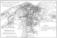 Plano La Habana 1921 el Metro y sus lineas (proyecto de construccion)