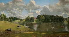 John Constable, English, Wivenhoe Park, Essex, oil on canvas,1816
