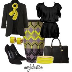 Pop of Yellow, created by angkclaxton on Polyvore