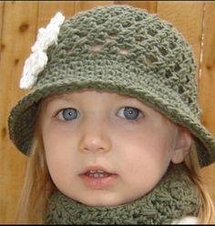 Set de sombrero y bufanda crochet