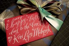 """tricky... :)  a great tip for """"faux"""" calligraphy."""