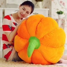 Personalized Halloween gifts oversized 3D pumpkin pillows for girls