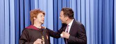 Simon Pegg se déguise en Ron Bourré pour l'anniversaire de #HarryPotter #RonWeasley #JimmyFallon