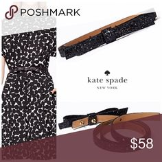 Kate Spade Glitter Skinny Bow Belt Brand-new in original packaging. Fast shipping. FIRM PRICE Unless Bundled. NO TRADES. kate spade Accessories Belts