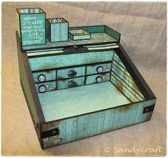 Sandy-Craft: Mini-Sekretär mit Rollladen Decorative Boxes, Mini, Home Decor, Dressers, Homemade Home Decor, Decoration Home, Decorative Storage Boxes, Interior Decorating