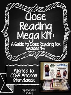 Close reading mega kit! Everything you need to implement RIGOROUS close reading in the classroom. Aligned to CCSS