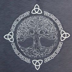 First of all, I should explain what this is. This is the Celtic Tree of Life. It symbolizes balance and harmony. I love the element of lines this design uses. The Celtic knots and branches in tree create a flow. Also, this design shows the element of time Symbol Tattoos, Celtic Tattoos, Viking Tattoos, Body Art Tattoos, Celtic Tattoo For Women, Tatoos, Celtic Tattoo Symbols, Celtic Knot Tattoo, Belly Tattoos