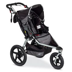 The BOB Revolution Pro Jogging Stroller is fully loaded to conquer even your most intense outdoor adventures. The Revolution Pro Stroller has hand activated rear wheel deceleration brakes for added control to conquer hills & inclines. The height adjustable padded handlebar, with 9 positions, creates a perfect fit for any parent. A swiveling front wheel allows for superior maneuverability. Locks forward for increased stability jogging or when the terrain turns tough. Easy, two-step folding…