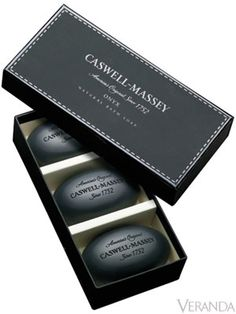 Caswell-Massey's Onyx Soaps