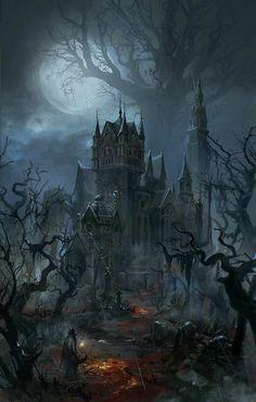 A gothic halloween dark fantasy art, fantasy rpg, fantasy world, fantasy artwork, Dark Fantasy Art, Fantasy Artwork, Fantasy Kunst, Fantasy Art Landscapes, Fantasy City, Fantasy Castle, Fantasy Landscape, Fantasy World, Dark Art