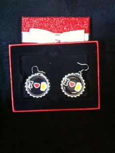 I  heart Beer Earrings.  Great St. Patty's Day by HochePotBoutique, $10.00