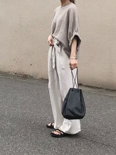 Elegant and casual style recommended for women in their and Special black sandal coordination! Elegant & Casual Style Recommended for Women in their and Japanese Minimalist Fashion, Minimalist Fashion Women, Minimal Fashion, Japanese Fashion, Summer Outfits, Casual Outfits, Fashion Outfits, Womens Fashion, Women's Summer Fashion