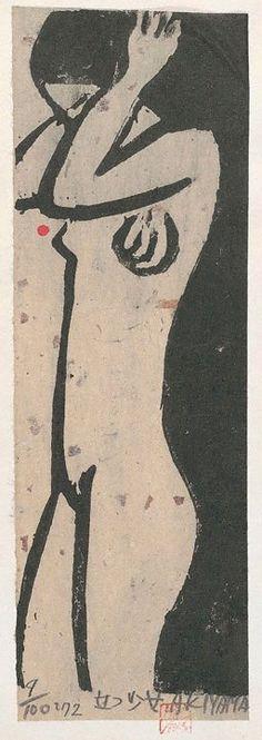 AKIYAMA Iwao (via Standing girl, (1972) by AKIYAMA Iwao :: The Collection :: Art Gallery NSW)