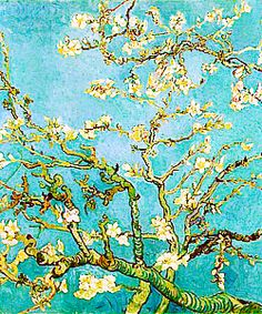 Branches of an Almond Tree in Blossom - Van Gogh, Vincent (Dutch, 1853 - Fine Art Reproductions, Oil Painting Reproductions - Art for Sale at Bohemain Fine Art Tree Canvas, Canvas Art, Canvas Prints, Canvas Paintings, Vincent Van Gogh, Van Gogh Almond Blossom, Pink Poodle, Van Gogh Paintings, Art Reproductions