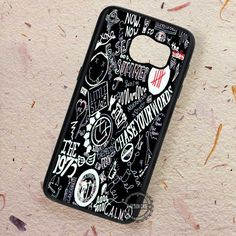 Collage Band On Black Punk - Samsung Galaxy S7 S6 S5 Note 7 Cases & Covers