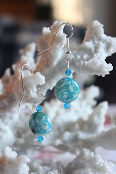 Check out this item in my Etsy shop https://www.etsy.com/listing/192249682/aqua-marble-disk-earrings-116