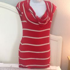Bailey 44 Top Beautiful orange and tan striped top. Grate at shape! Little bit of piling but not bad.(see pic's) Anthropologie Tops Tees - Short Sleeve