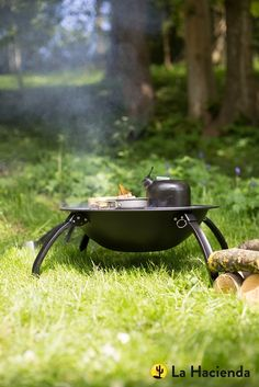 Camping Firepit with Grill