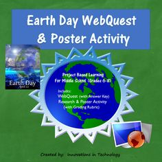 Fun Facts about Earth Day WebQuest & Poster Activity. In this lesson, students learn more about Earth Day as they complete a WebQuest (Internet Scavenger Hunt) to research some questions about the holiday and the environmental conservation issues that it involves. Next, they choose a related topic of interest and research it in more depth to create a poster using software available on classroom computers or Web 2.0 tools such as PosterMyWall, Canva, Prezi, etc.