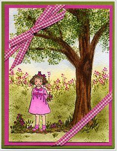 Watercolor Landscaping-Weekly Inkling-Splitcoaststampers  Issue #011 June 28th 2006