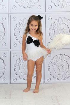 HauteLook | Mia Belle Baby: Sequin Bow One Shoulder Swimsuit