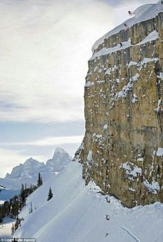 DO NOT TRY THIS AT HOME: Jamie Pierre drops a 245 foot cliff #ski