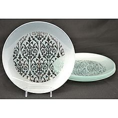 Silver Damask Dinner Plates (Set of  sc 1 st  Pinterest & Elegant Princess Damask Dinner Plates \u2013 8 Pack $7.95 Package ...