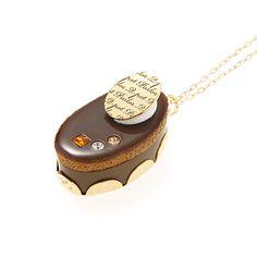 Petit Choco Cream Cake Necklace | Q-pot.