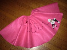 Girls Poodle Skirt sz #7/8...Father #Daughter Dance..Free #Ponytail Bow..Choice o,  View more on the LINK: http://www.zeppy.io/product/gb/3/181370982/