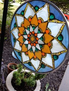 Glass on glass (#GOG) #mosaic by Carrie Strope Sohayda using No Days Mosaic Adhesive film