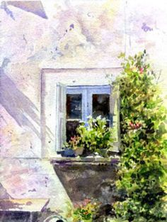 Allan Kirk's impressionistic watercolour exercise shows how to capture light and present the beautythat can be found in the simplest of subjects. The composition is brought to life by the way transparent watercolour is used to reflect the strong light and dark tones found under the southern French sun. For