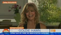 Opening up: Hollywood actress Goldie Hawn gushed over controversial actor Mel Gibson, 60, on the Today show on Friday, while also revealing the secrets to her career success