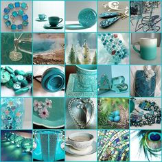 Turquoise In Detail Collage Tiffany Blue, Azul Tiffany, Shades Of Turquoise, Aqua Blue, Shades Of Blue, Magenta, Turquoise Color, Collages, Color Menta