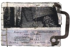 Book 31, Self-portait in 16 pieces (Mixed Media),  6x4 cm by Beata Wehr mixed media book
