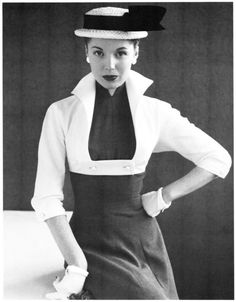 1950s Dress with Bolero - women knew how to dress well in the 50s... This is different, but it fascinates me!
