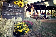 Country fall wedding ideas from Kayla's wedding