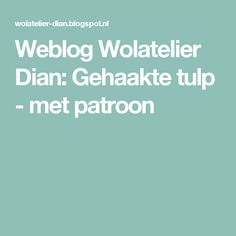 Weblog Wolatelier Dian: Gehaakte tulp - met patroon