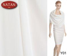 Jedwab Naturalny Elastyczny ECRU / BIAŁY - Włoskie luksusowe tkaniny i dzianiny. Najnowsze trendy. Ponad 4000 wzorów i kolorów: wełna, jedwab, kaszmir, wiskoza, bawełna, satyna Trendy, White Dress, How To Make, Dresses, Fashion, Vestidos, Moda, Fashion Styles, Dress