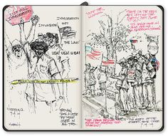 Protest Sketch by lindarfis, via Flickr