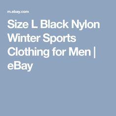 Size L Black Nylon Winter Sports Clothing for Men | eBay