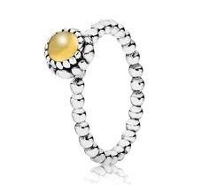 Pandora Silver & Citrine November Birthstone Ring 190854CIG - £40.00