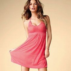 Victoria'S Secret Pink Halter Dress