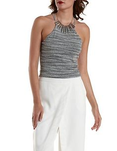 Cropped Racer Front Tank Top: Charlotte Russe #tanktop
