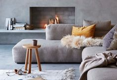 Having a cozy living room is a dream of every homeowner. Start making your very own cozy living room with these ideas now! Cozy Living Rooms, Home And Living, Living Room Decor, Living Spaces, Modern Living, Living Area, Country Fireplace, Cosy Fireplace, Salons Cosy