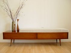 1960s walnut bench from American of Martinsville